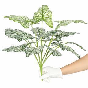 Sztuczna roślina Calladium dwukolorowa 50 cm