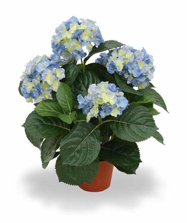 Sztuczna roślina Hortensja niebieska 45 cm