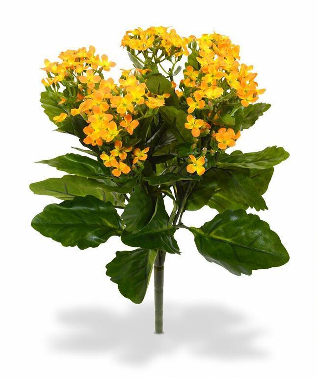Sztuczna roślina Kalanchoa pomarańczowy 30 cm