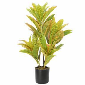 Sztuczna roślina Kroton nakrapiany 55 cm