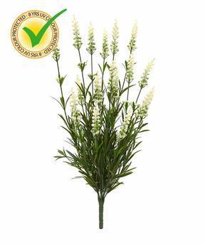 Sztuczna roślina Lawenda biała 50 cm
