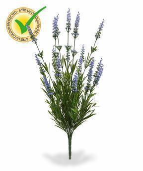 Sztuczna roślina Lawenda niebieska 50 cm
