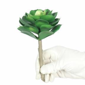 Sztuczna roślina lotosu Esheveria zielona 15,5 cm