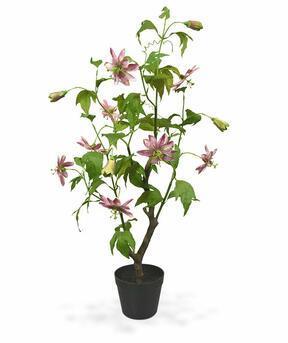 Sztuczna roślina Marakuja różowa 90 cm