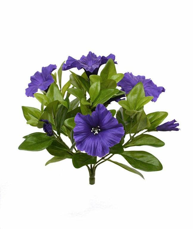 Sztuczna roślina Petunia fioletowa 25 cm