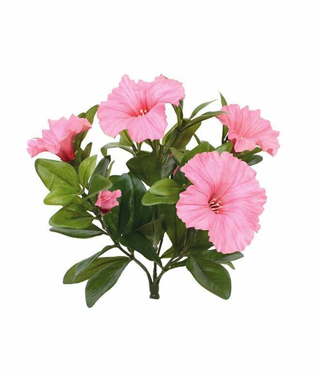 Sztuczna roślina Petunia różowa 25 cm