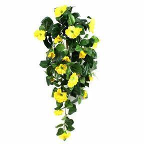 Sztuczna wąs Petunia żółta 80 cm