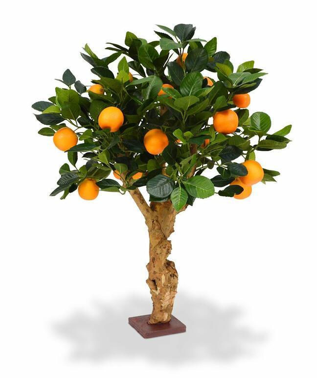 Sztuczne bonsai Cytryna pomarańcza 65 cm