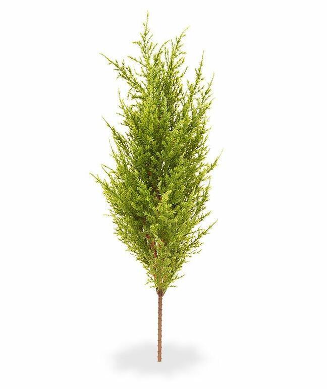 Sztuczne drzewo Cyprys zielono-żółte 56 cm