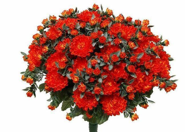 Sztuczny bukiet Chryzantema pomarańcza 35cm
