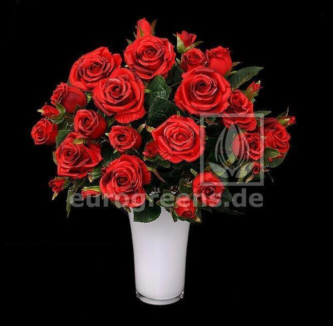 Sztuczny bukiet czerwonych róż 50 cm