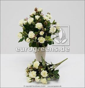 Sztuczny bukiet róż biały 25 cm
