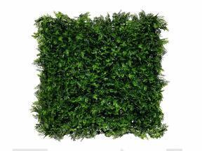 Sztuczny ciemnozielony panel liściasty Paproć - 50x50 cm