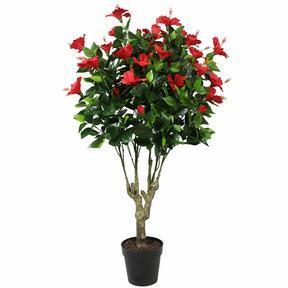 Sztuczny czerwony hibiskus 135 cm