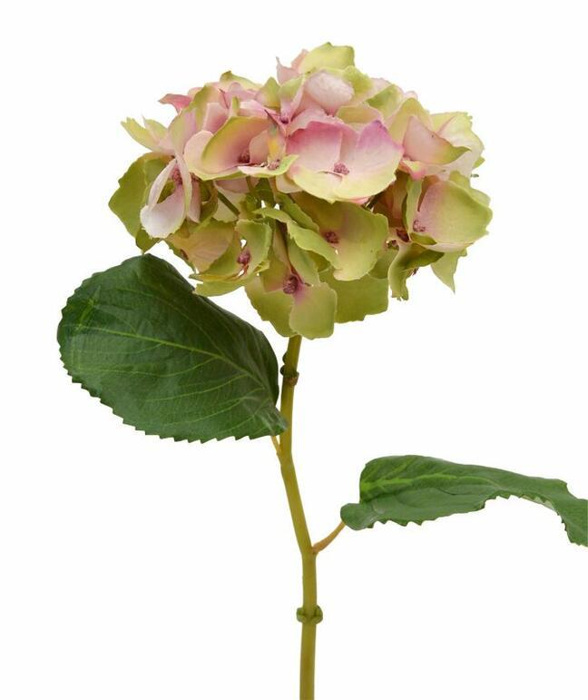 Sztuczny kwiat hortensji różowy 45 cm