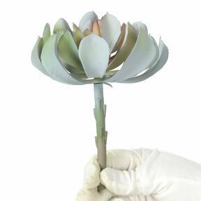 Sztuczny Lotos szaro-różowy 14 cm