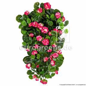 Sztuczny wąs Geranium czerwony 70 cm