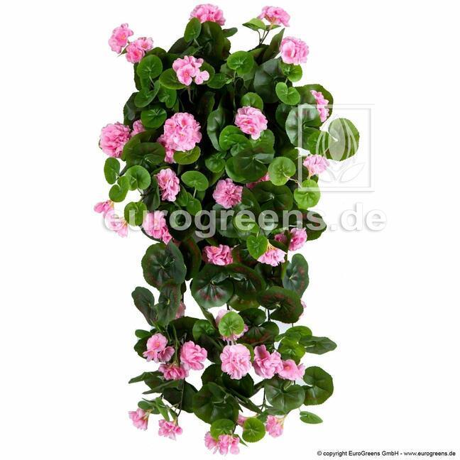 Sztuczny wąs Geranium różowy 70 cm