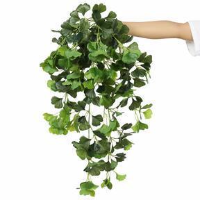 Sztuczny wąs Ginko zielony 80 cm