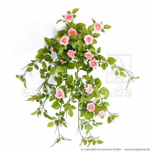 Sztuczny wąs łososiowa róża 55 cm