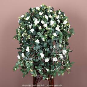 Sztuczny wąs Różany biały 70 cm