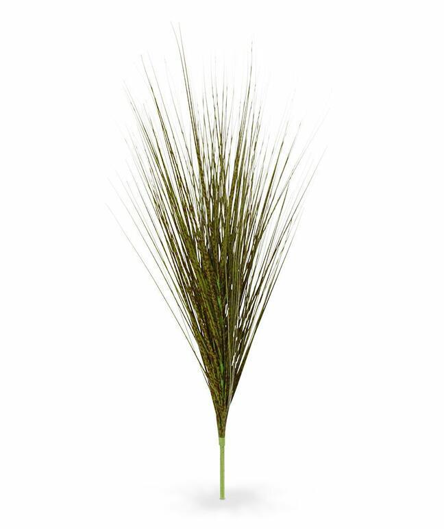 Sztuczny zielono-brązowy pęczek trawy Chiński ornament 85 cm