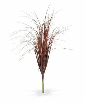 Wiązka sztuczna żłobiona bordowa trawa 80 cm