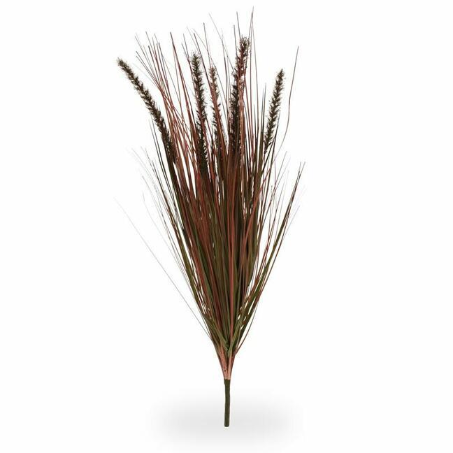 Wiązka sztucznej żłobiącej trawy Perovec bordowa 75 cm